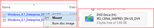 If you have the .ISO, you can double-click the icon or right-click and select Mount to use it as a virtual drive.