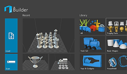 3D Builder uses Kinect v2 to create accurate, three-dimensional models, ready for 3D printing.